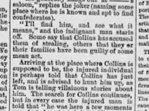 MAY 1874 THE ELK COUNTRY ADVOCATE JOHN COLLINS