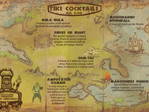 TIKI COCKTAIL LIST