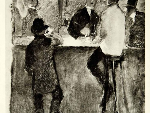 TOULOSE LAUTREC IN THE BAR 1887