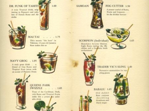 TRADER VIC MENU SEATTLE
