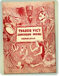 TRADER VIC HONOLULU MENU